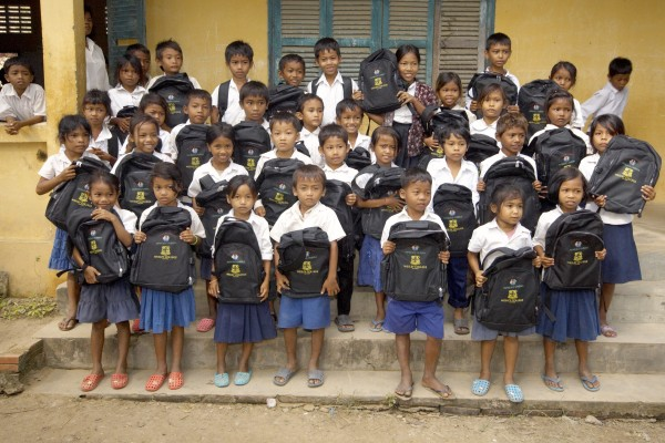 store, donate, 35 students  backpacks